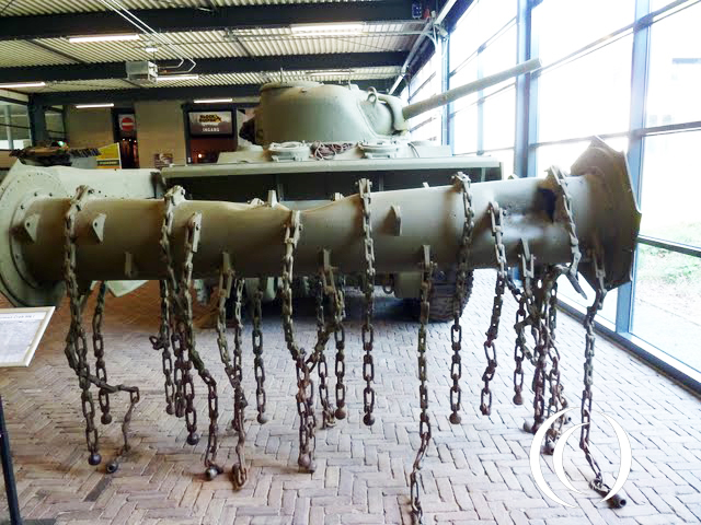 Sherman Crab mine flail tank at the War Museum in Overloon