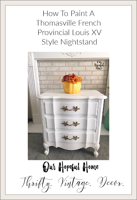 white painted French provincial nightstand