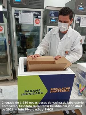 Curitiba recebe novo lote de vacinas