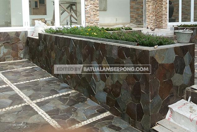 batu alam templek untuk lantai