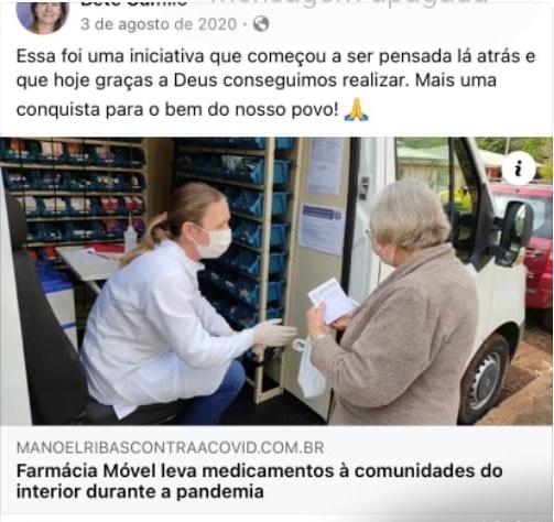 Manoel Ribas: Farmácia Móvel, programa novo ou já existia na gestão passada?