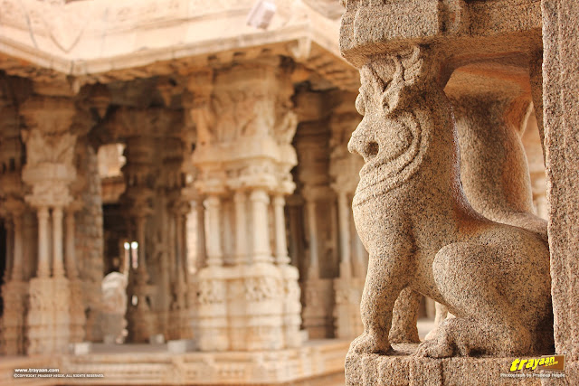 The magnificent Vithala temple pavilion, Hampi