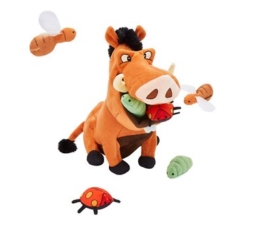 Disney Pumbaa Hide and Seek Puzzle Plush Squeaky Dog Toy
