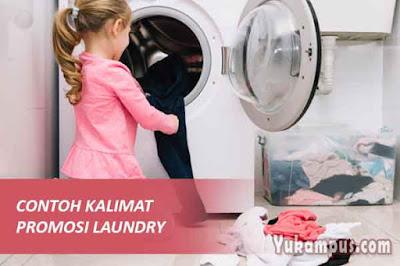 contoh kalimat kata-kata promosi laundry baju kaos sepatu