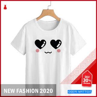 MRTT031k56 kaos wanita eye love white Keren BMGShop