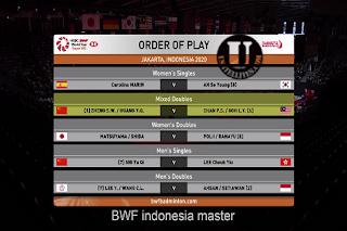 HSBC BWF World Tour Super 500 Daihatsu Indonesia Masters AsiaSat 5 Biss Key 17 January 2020