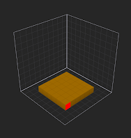 Drag to create a square of voxels in the grid
