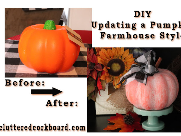 DIY Project - Updating a Dollar Tree Pumpkin | Farmhouse Fall Decor