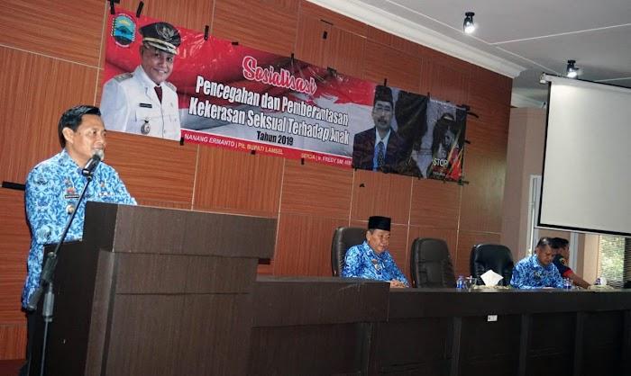 Pemkab Lampung Selatan Gelar Sosialisasi Pencegahan dan Pemberantasan Kekerasan Seksual Terhadap Anak.