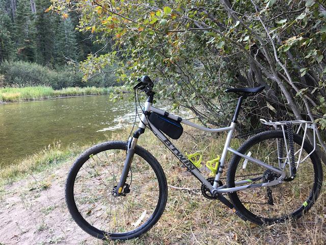 bike next to a rive