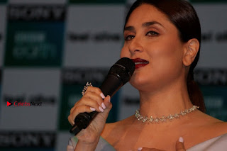 Bollywood Actress Kareena Kapoor Stills in Beautiful Silk Long Dress at Sony BBC Earth New Channel Launch  0021.jpg