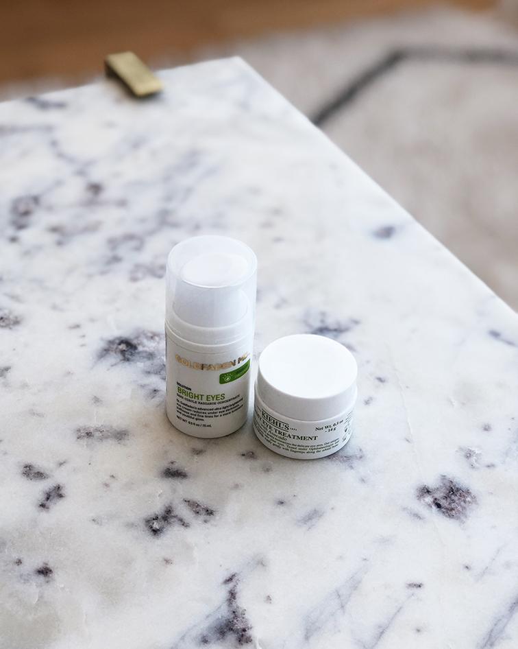 Goldfadden Bright Eyes cream, Kiehls Creamy Eye Treatment with Avocado