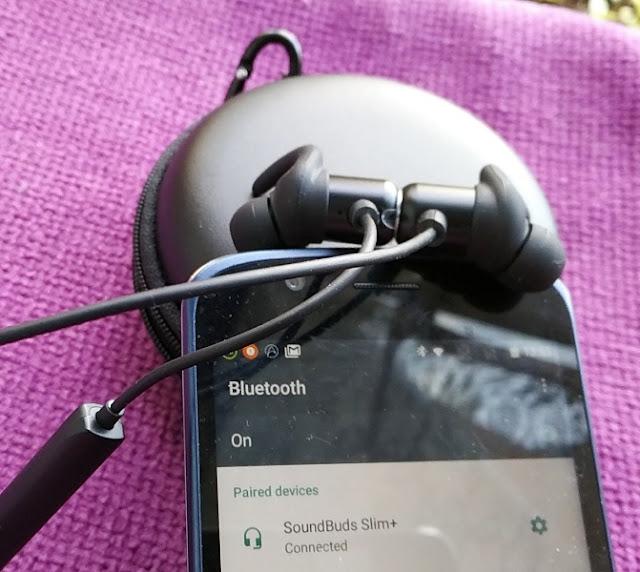 4abbf320cb5 Anker SoundBuds Slim Plus IPX5 Gym Headphones aptX HD Bluetooth 4.1 ...