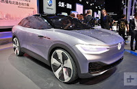 An autonomous Volkswagen I.D. Crozz concept vehicle is shown at the Los Angeles Auto Show in Los Angeles, California, U.S., November 30, 2017. (Credit: Reuters/Mike Blake/File Photo) Click to Enlarge.