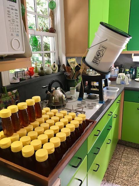 bee, beekeeping, honey, pail perch, bottler, white foam, ergonomic,