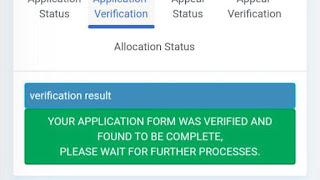 Application form Verification Status wahitimuforum.com