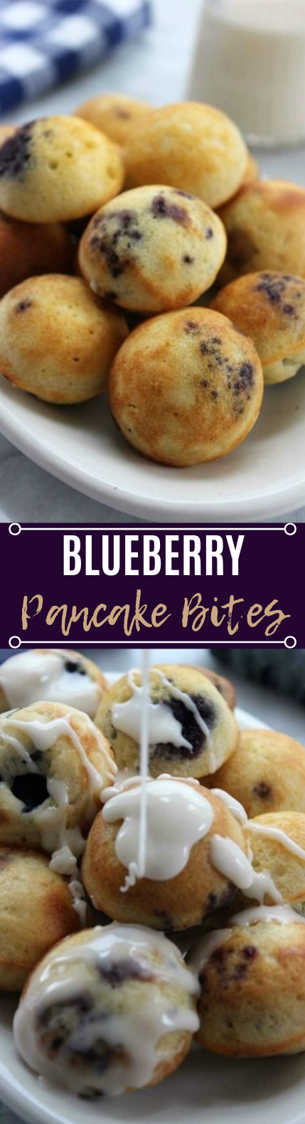 Blueberry Pancake Bites #easy #cake