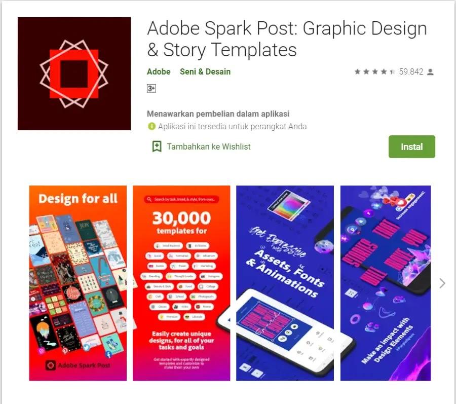 Aplikasi Membuat Poster - Adobe Spark
