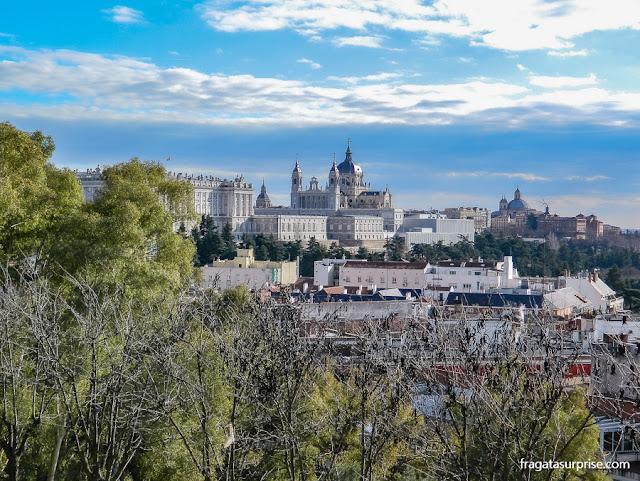 Palácio Real de Madri visto do Parque del Oeste