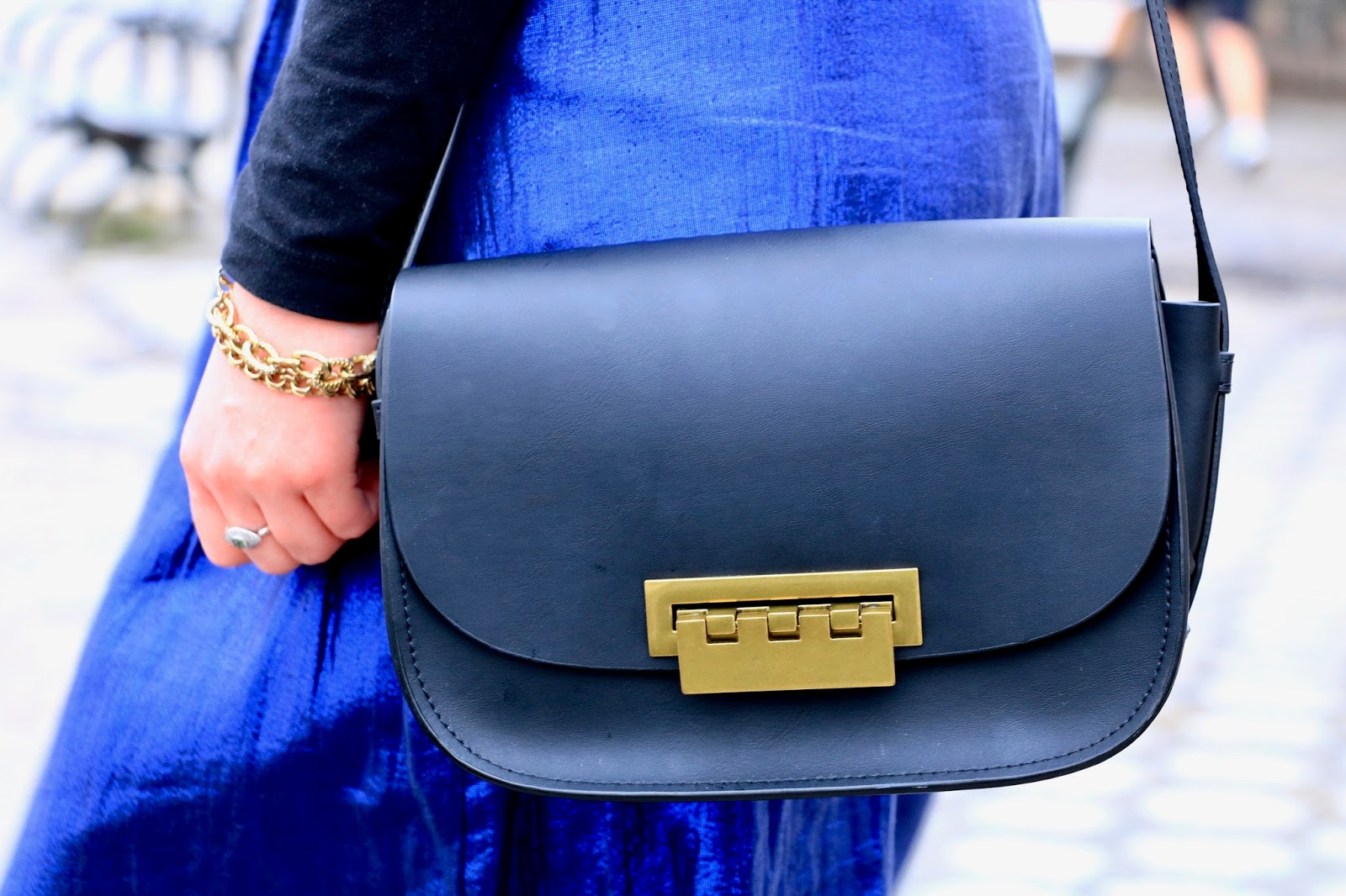 zac posen black purse