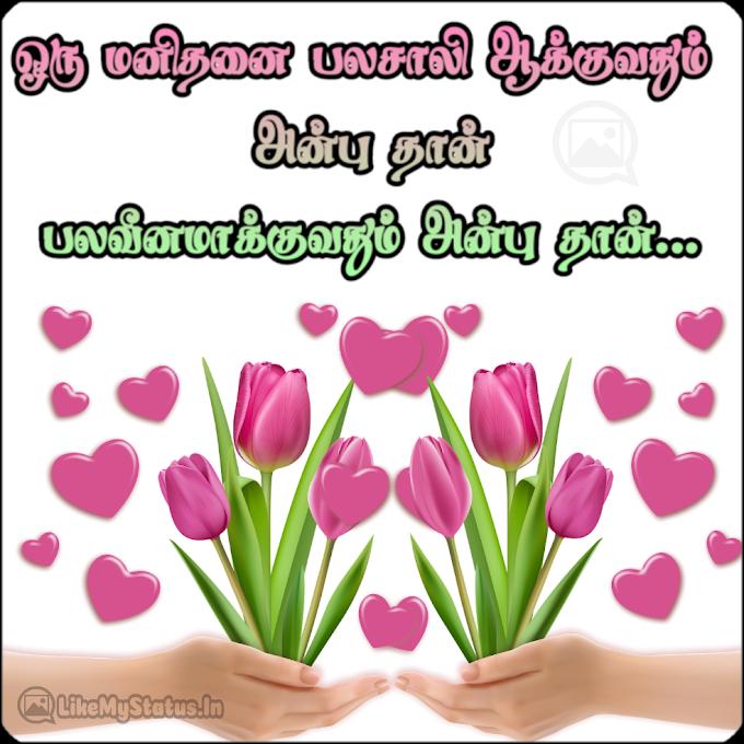 ஒரு மனிதனை... Anbu Tamil Quote Image...