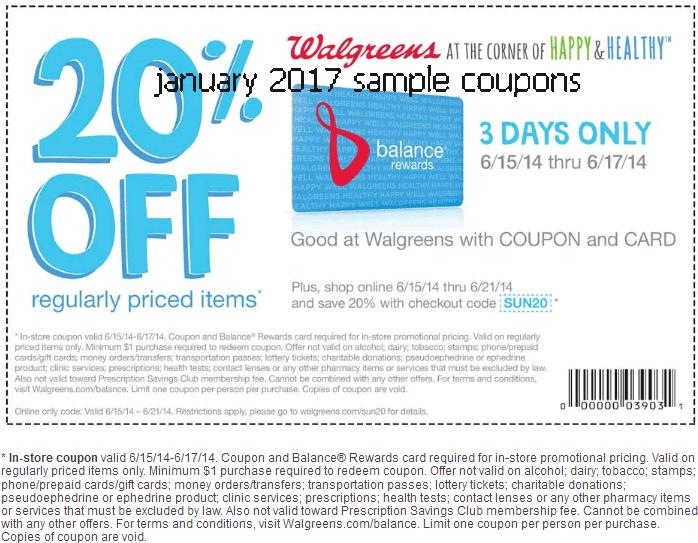 Walgreens printable coupon 2018