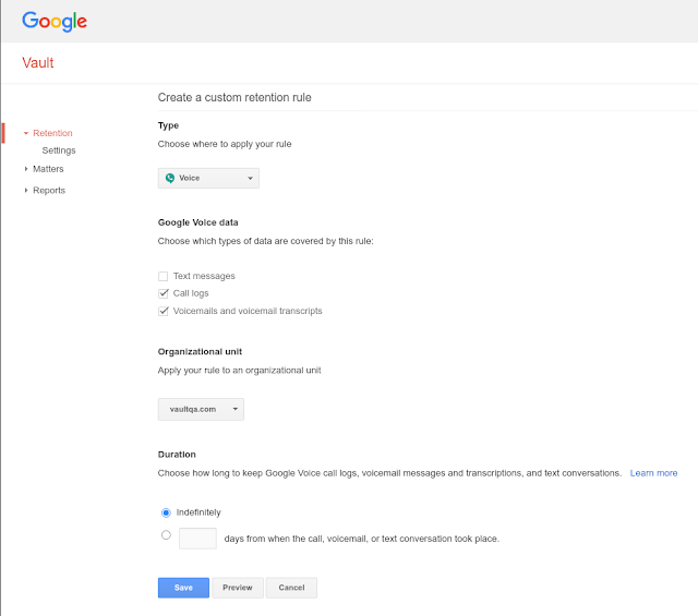 Vault for Google Voice now generally available 2