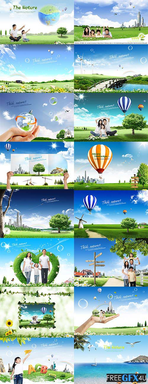 ImageToday Nature PSD Colorful Background