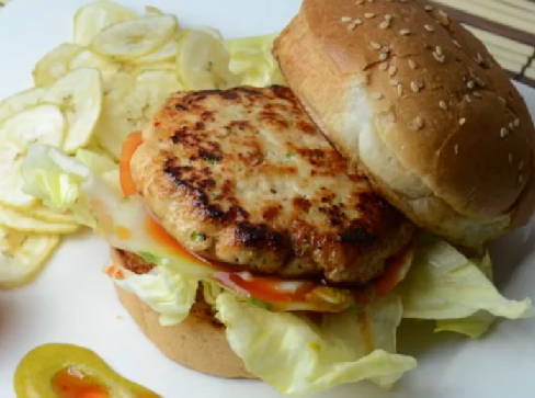 Info Recipe Images: Healthy Chicken Burger Recipe