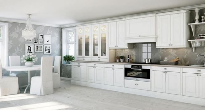 El rom ntico estilo n rdico en la cocina cocinas con estilo for Cocinas tradicionales blancas
