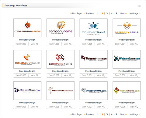 Free Logo Templates section on TemplateBox