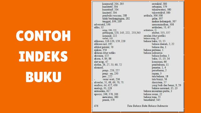 Contoh Indeks Buku