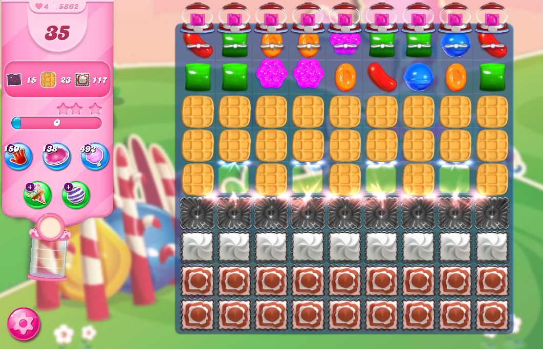 Candy Crush Saga level 5862