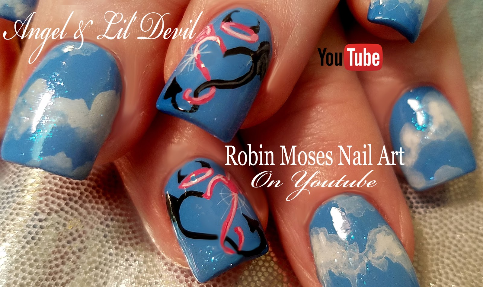 Nail Art By Robin Moses Old Fashioned Christmas Angel Nails With