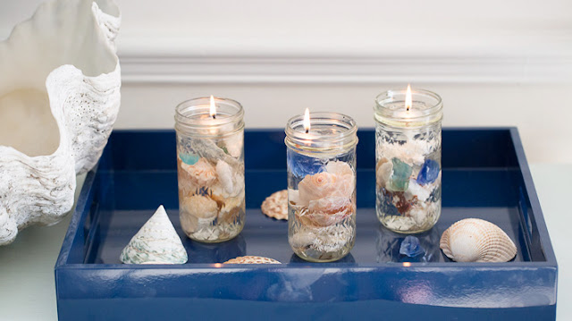seashell candle diy