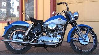 sportster xlh 1958 blue and white