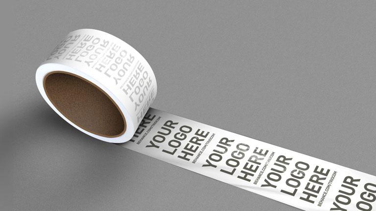 Tape Logo Mockup PSD