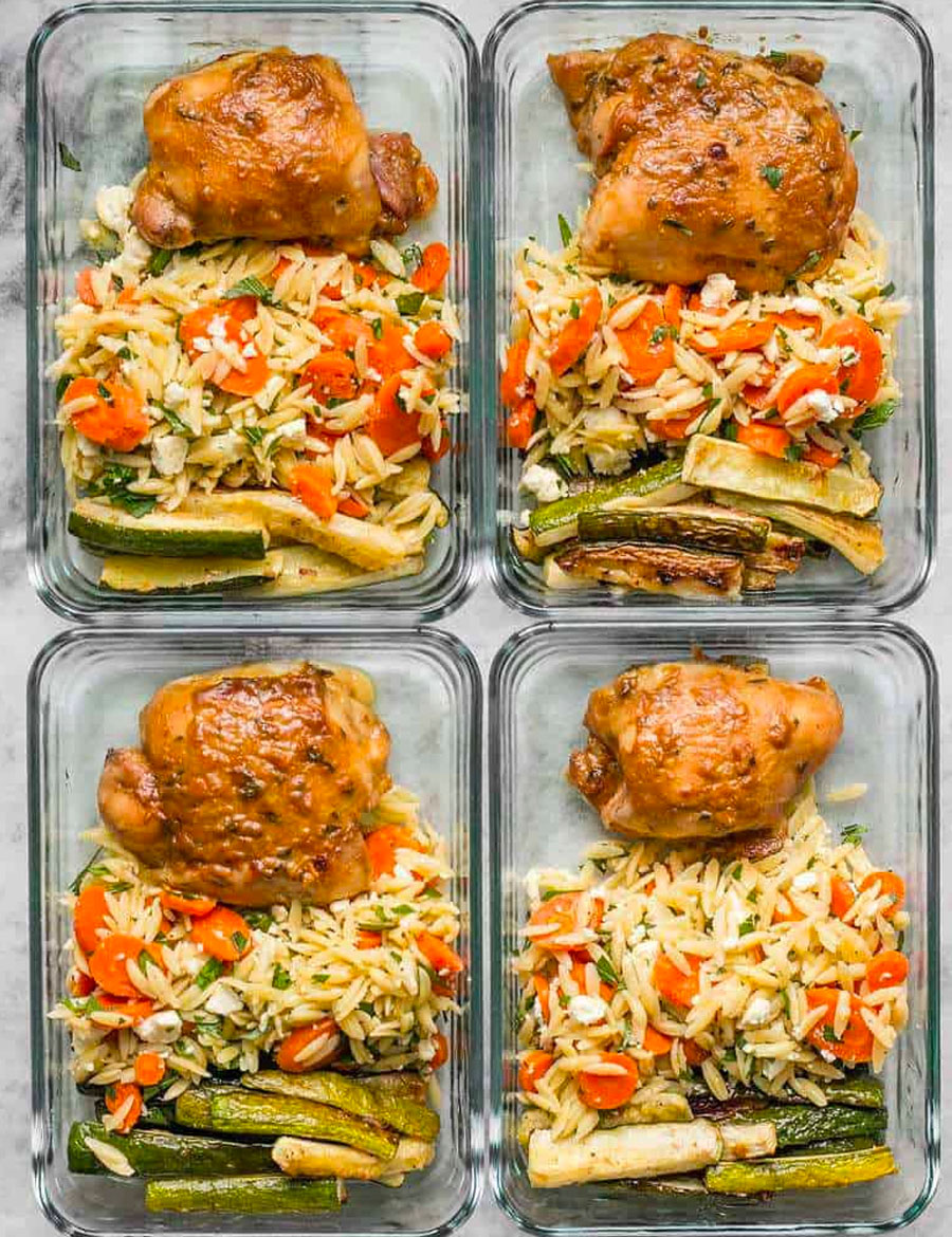Maple Dijon Chicken Thigh Meal Prep
