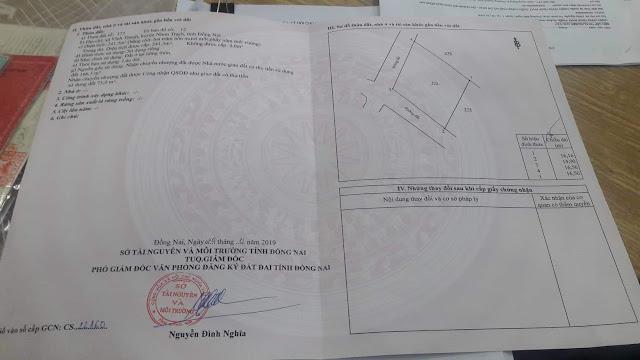 Bán đất Vĩnh Thanh Nhơn Trạch sát trục đường 25c 241.5mv (CYNT)