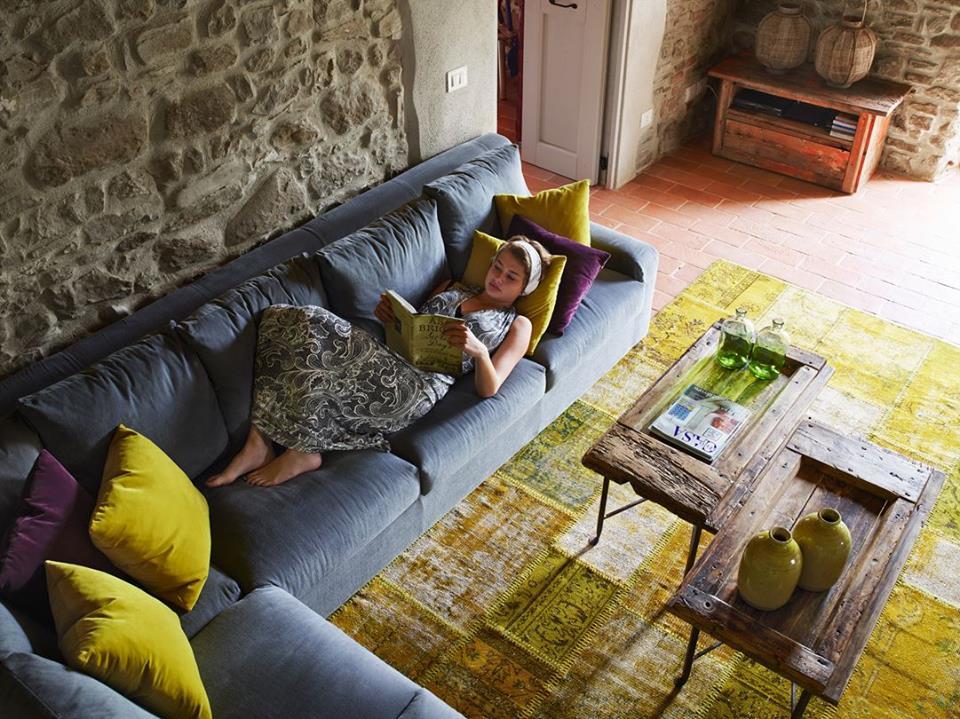Na Itália uma típica casa de campo atualizada Casinha colorida - moderne modulare kuche komfort