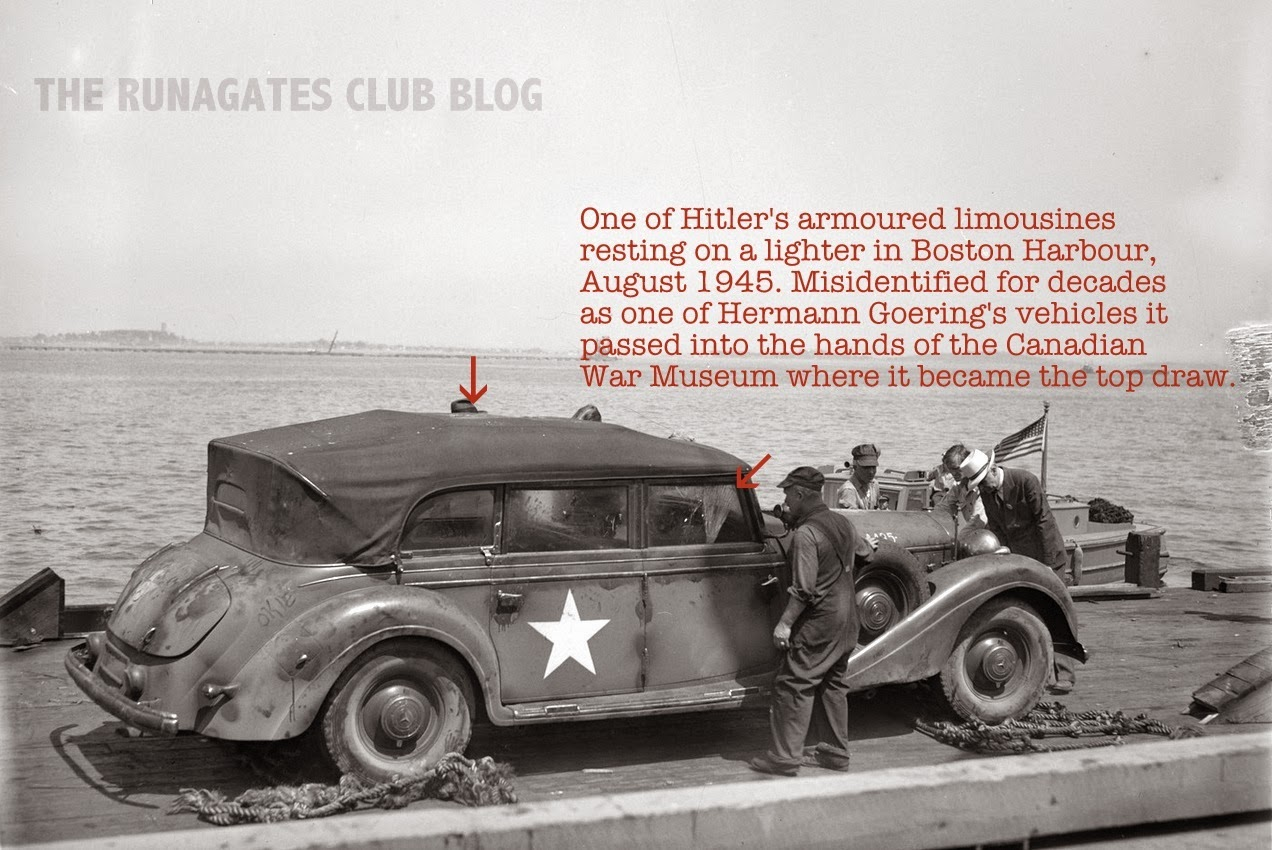 Armoured limousine frequently used by Adolph Hitler, seized by U.S. Forces in 1945