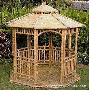 gazebo dari bambu simple minimalis