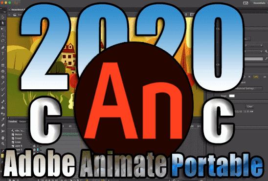 تحميل برنامج ادوبي انيميت Adobe Animate 2020 Portable نسخة محمولة مفعلة