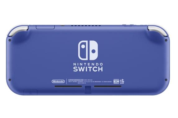 Tampak Belakang Nintendo Switch Lite Biru