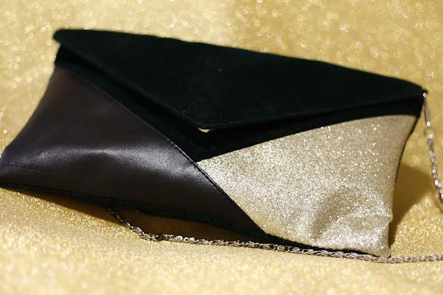 clutch dorado bolso