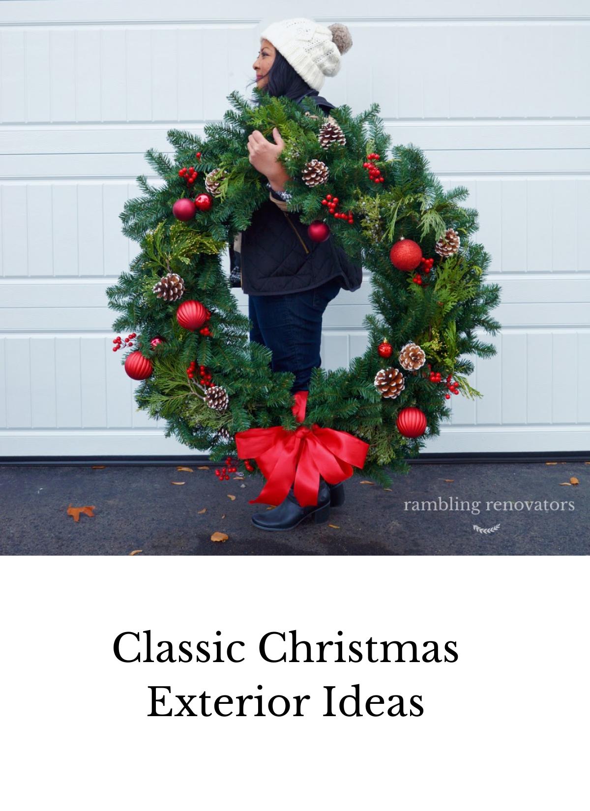 classic christmas exterior decor ideas