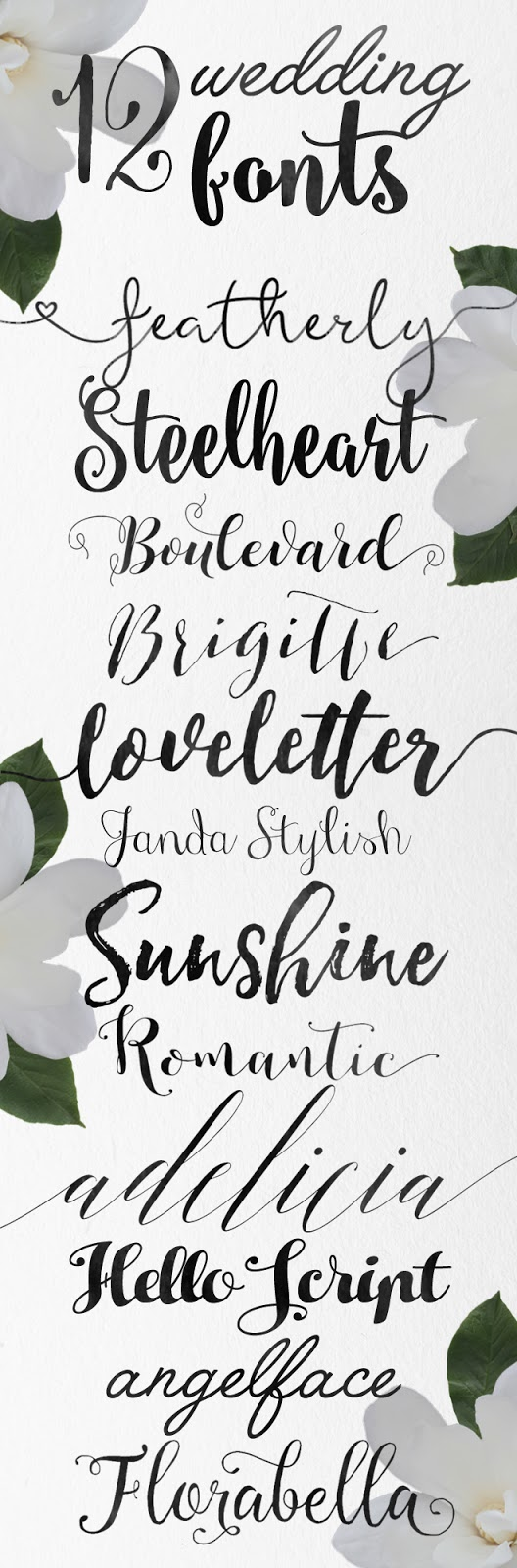 Calligraphy wedding fonts skyla design