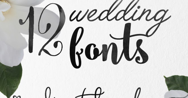 Calligraphy wedding fonts skyla design