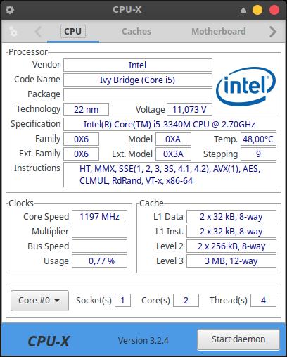 CPU-X on Xubuntu