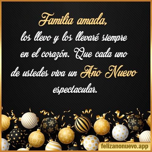 deseos de año nuevo familia